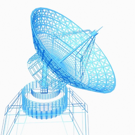 radio station: Satellite dish Stock Photo