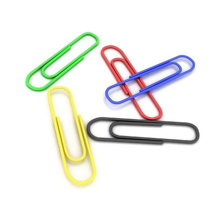 Color paper clips for a paper Stock Photo - 12922951