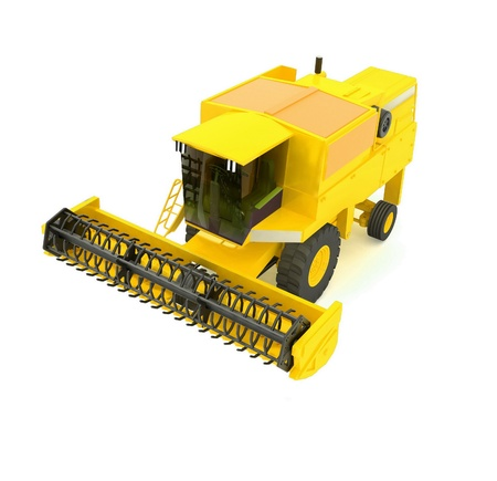 combine harvester: yellow agricultural combine-harvester Stock Photo