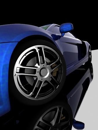 dream car: Detalle de las ruedas de la m�quina en el fondo negro