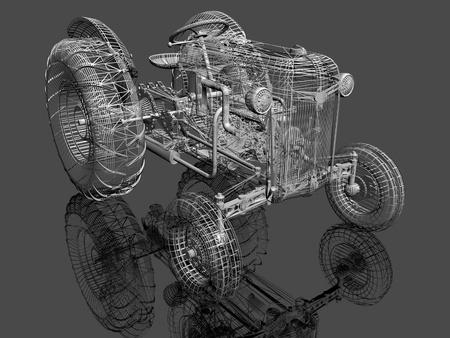 tractor 3d  model Stock Photo - 12922724