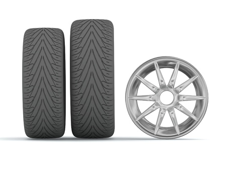 Disk and tires Stock Photo - 13130204