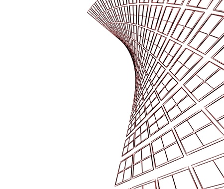 Abstract architectural 3D construction Stock Photo