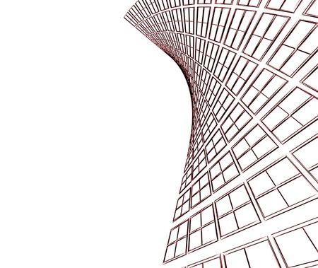 Resumen de construcción arquitectónica en 3D