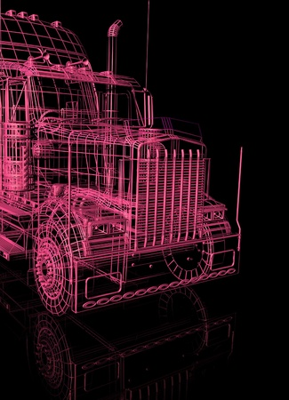 3d  booth of truck Stock Photo - 13196349