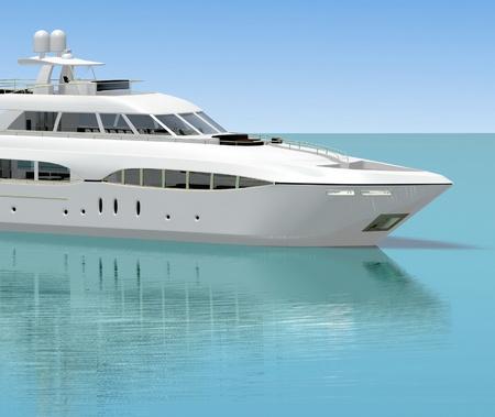 White pleasure yacht  photo