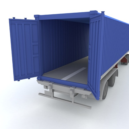 commercial docks: Open cargo container