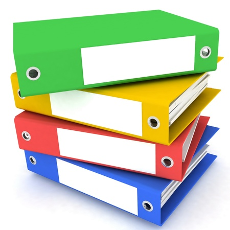 Folders for papers on a white background Stock Photo - 13407800