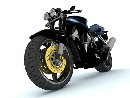 harley:  3d sport bike Stock Photo