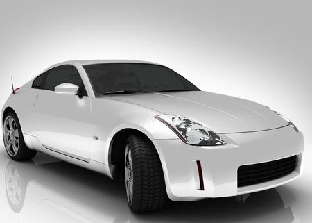 Silver car light background photo