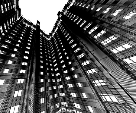 Abstract modern building photo