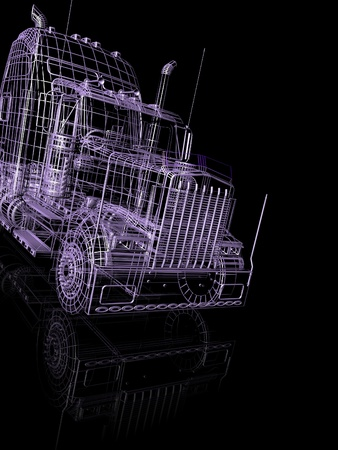 raytraced: 3d truck