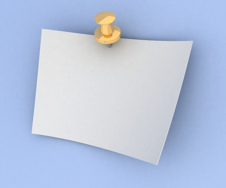 sheet of paper on the button Stock Photo - 13407807
