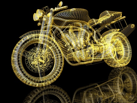 Motor cycle street fighter Stock Photo - 13407866