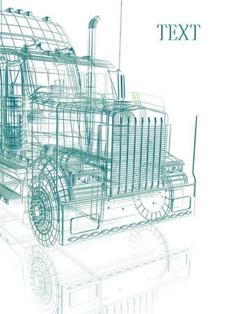 semitrailer: 3d truck