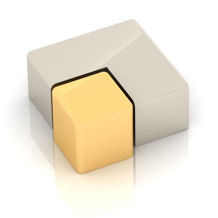 Cubic three-dimensional pie Stock Photo - 13488401
