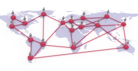 network map of the world Stock Photo - 13488434