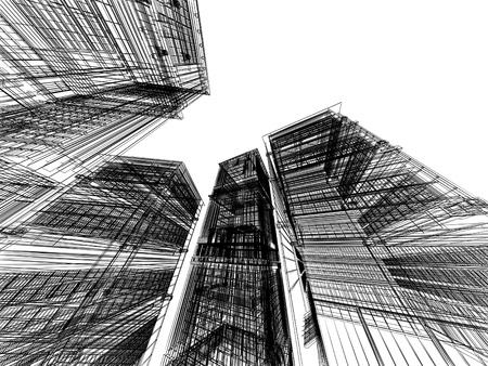 抽象的な 3 D 建築