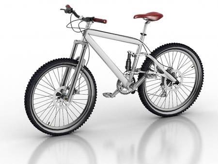 Bicycle isolated on white background with reflection Stock Photo - 13719726