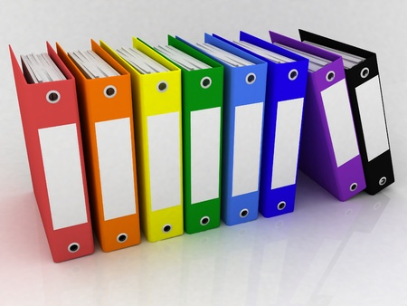 Folders for papers on a white background Stock Photo - 13735629
