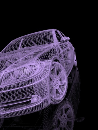 wire mesh: model cars