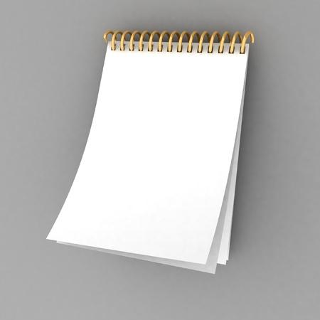 Blank spiral notebook photo