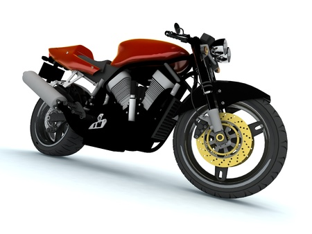 Red Motor cycle photo