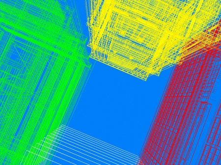 threateningly: color skyscraper