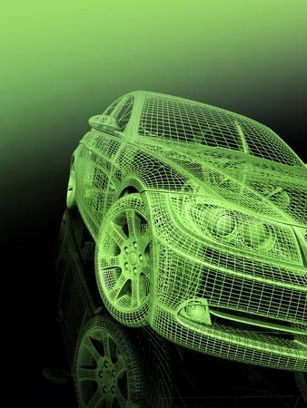 近代的なモデルの車のフロント ビュー 写真素材