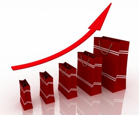 commodities: Ventas tabla de crecimiento. La presentaci�n de una econom�a cada vez mejor y aumento de ingresos del negocio de la venta de productos y servicios.