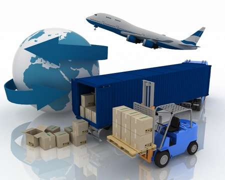 international trade: types of transport of transporting are loads