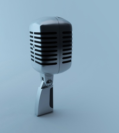 3d retro microphone photo