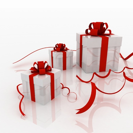 Illustration of boxes with gifts Stock Illustration - 14289856