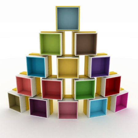 3d illustration empty colorful stand Stock Illustration - 14316256