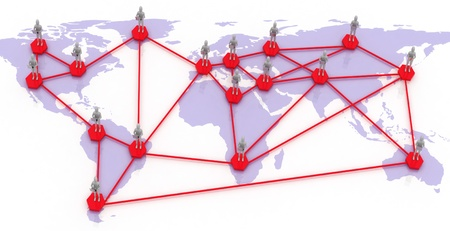 network map of the world Stock Photo - 14316383