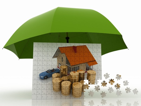concept of defence of property Stock Photo - 14343898
