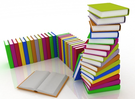 Stacks of books isolated on white background Stock Photo - 14343883