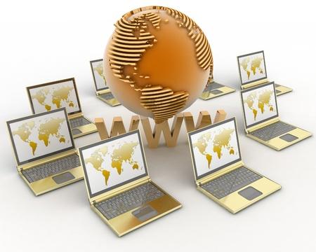 Internet concept. 3d rendered illustration.