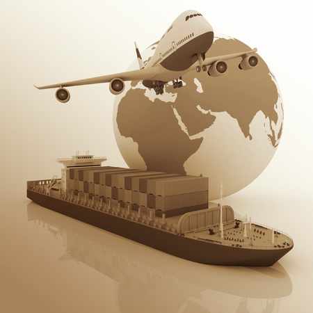 international trade: types of transport of transporting are loads.