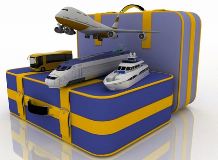 concept of transport for trips. 3d render illustration illustration