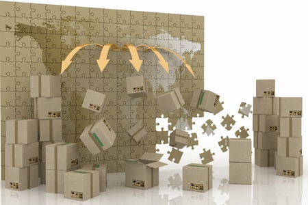 conception of world trade. 3d concept of logistic. photo