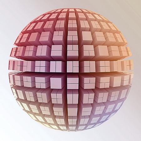 through travel: Globe of cubes
