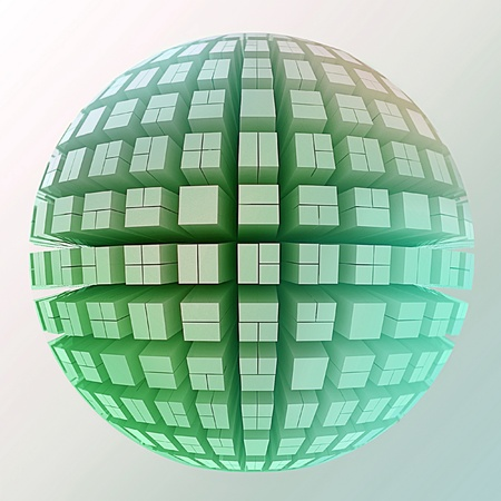 Globe of cubes photo