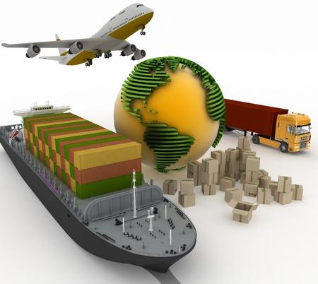 輸送の輸送のタイプは荷重です。 写真素材