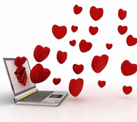 心のノート パソコンの画面から離陸します。