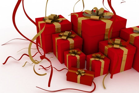 Illustration of boxes with christmas gifts Stock Illustration - 15122170