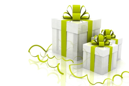 3d Illustration of boxes with christmas gifts Stock Illustration - 15466350