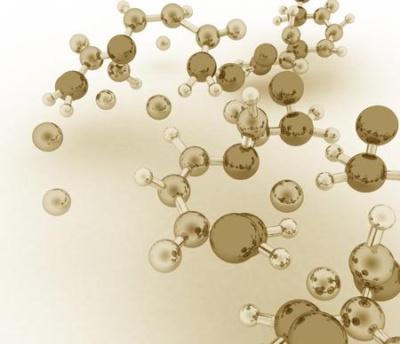 3d render of molecule background Stock Photo - 15887652