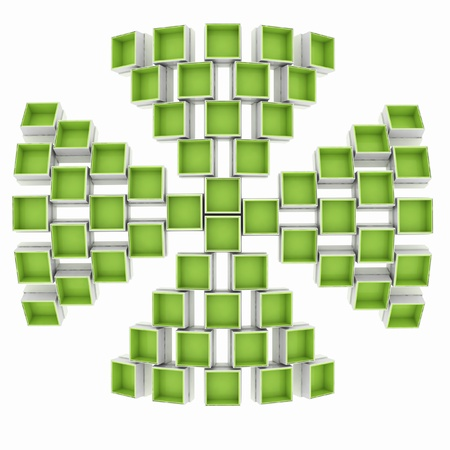 geometrical form is formed by the coloured boxes Stock Photo - 16259649
