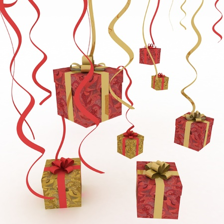 Illustration of boxes with christmas gifts Stock Illustration - 16899175
